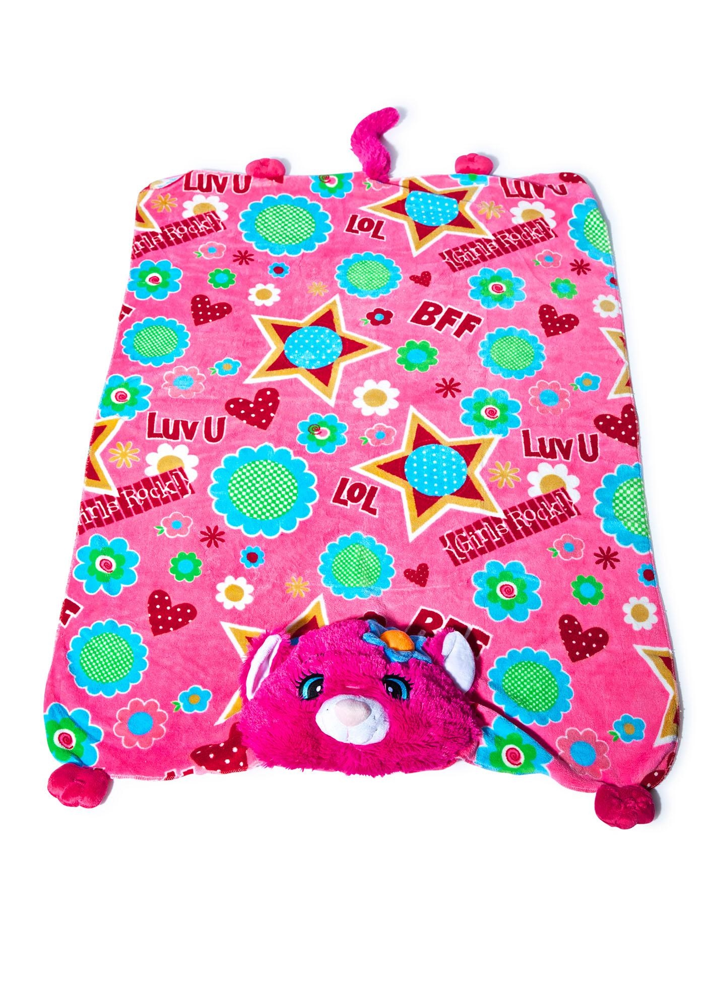 Pillow Pets Flower Power Cat Blanket
