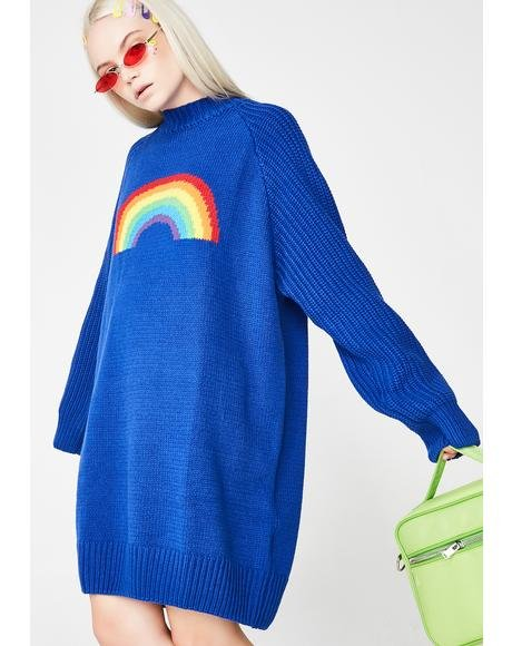 Over The Rainbow Sweater Dress
