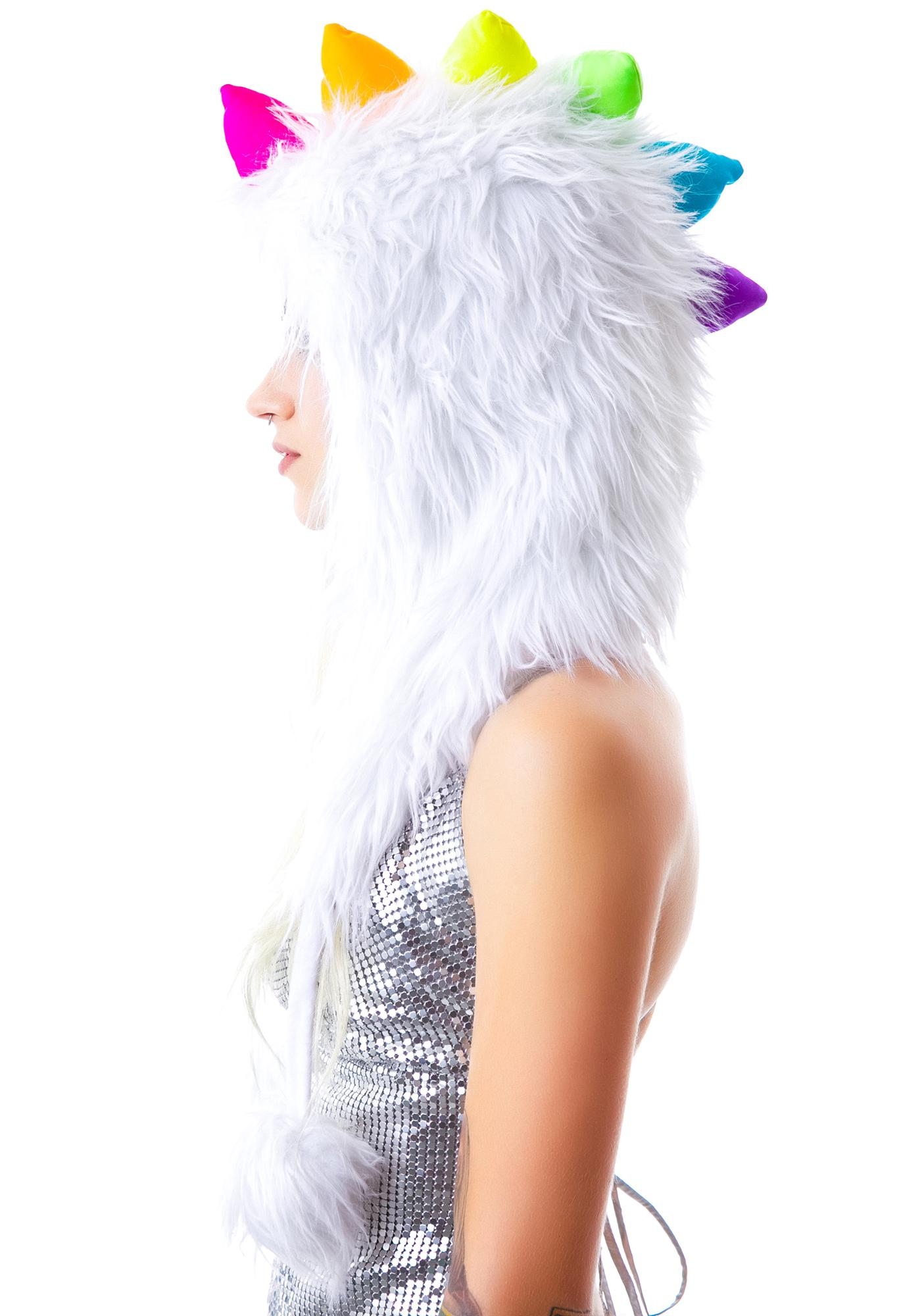 Disco Dino Furry Hood