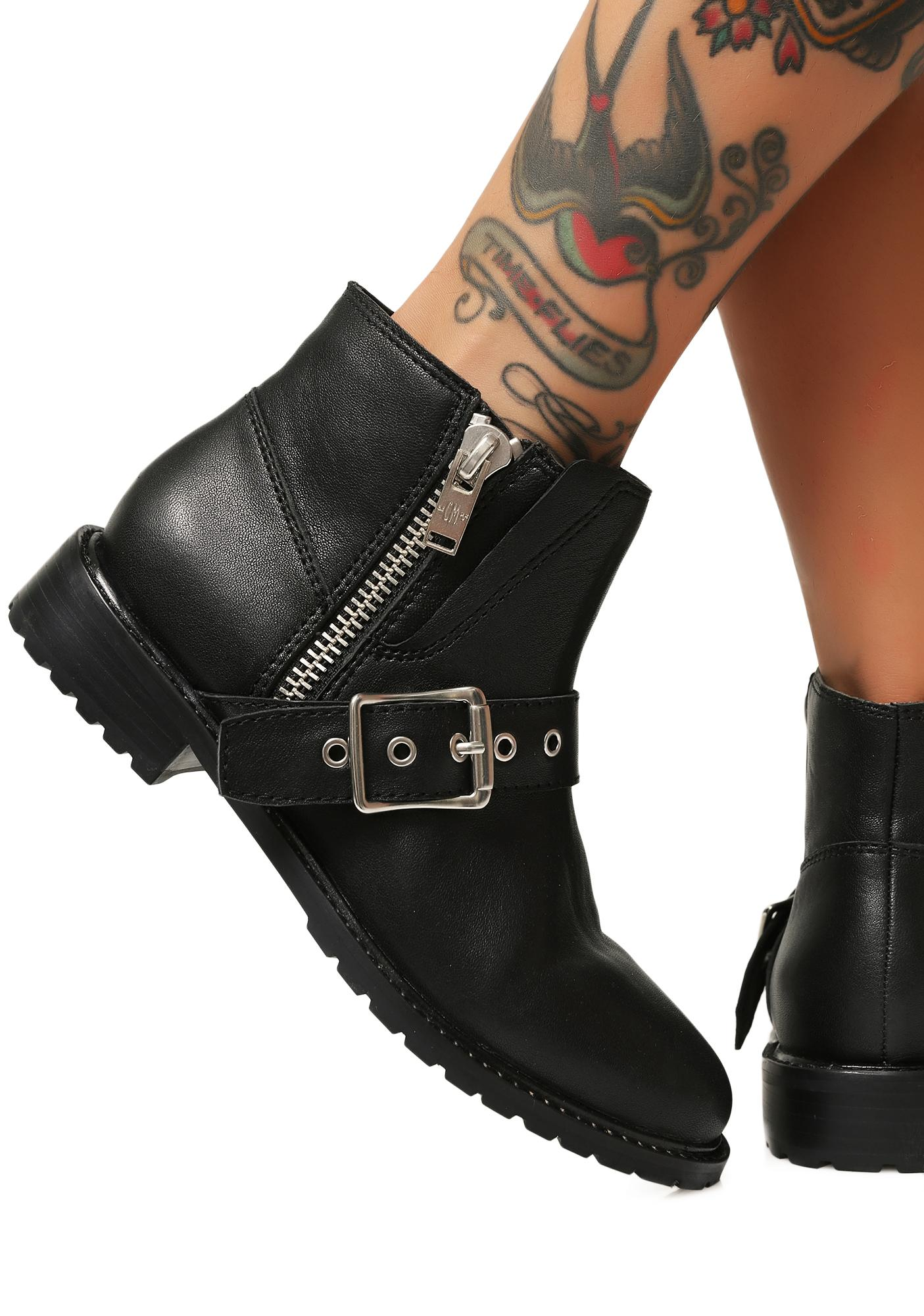 Current Mood Route 69 Biker Boots