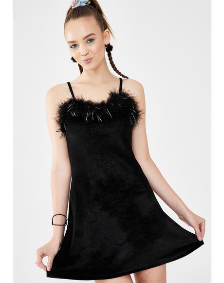 Material Girl Velvet Dress