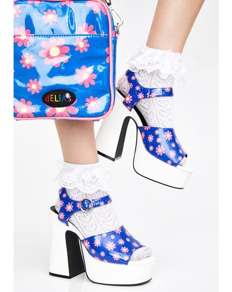 Ditzy Delight Platform Heels