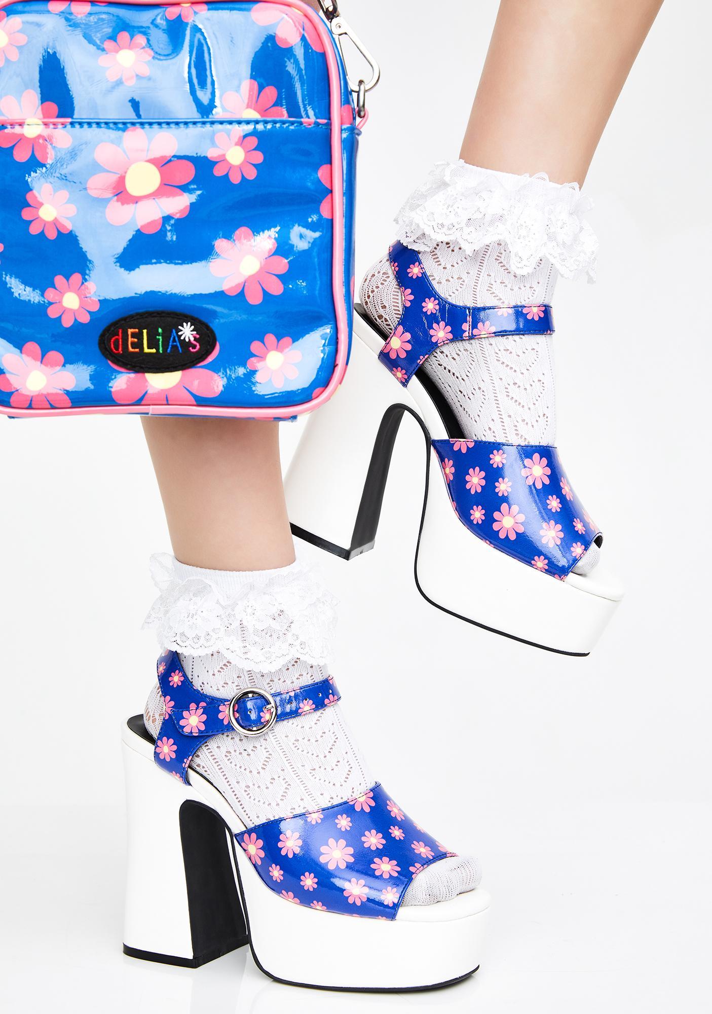 dELiA*s by Dolls Kill Ditzy Delight Platform Heels