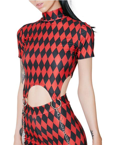 Harlequin Vixen Garter Top