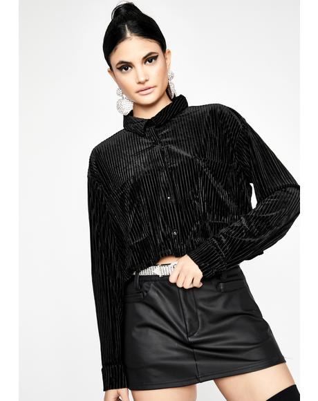 Borderline Obsessed Velvet Top