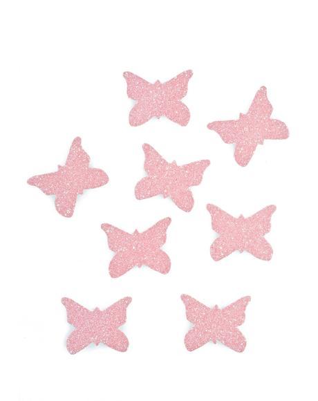 Glitter Butterfly Body Stickers