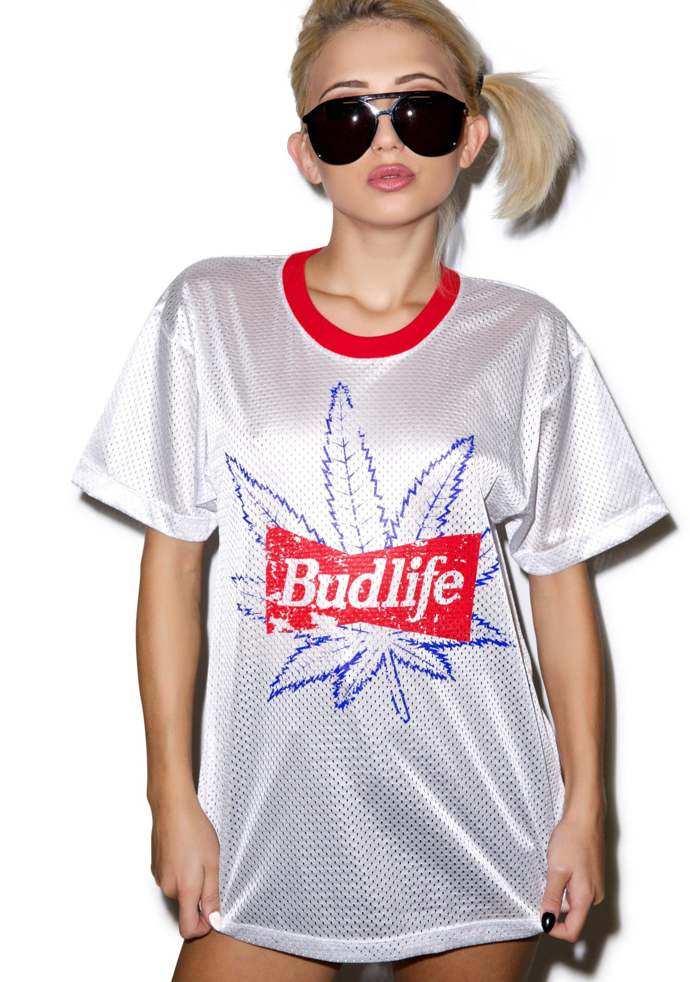 Petals and Peacocks Budlife Mesh Tee