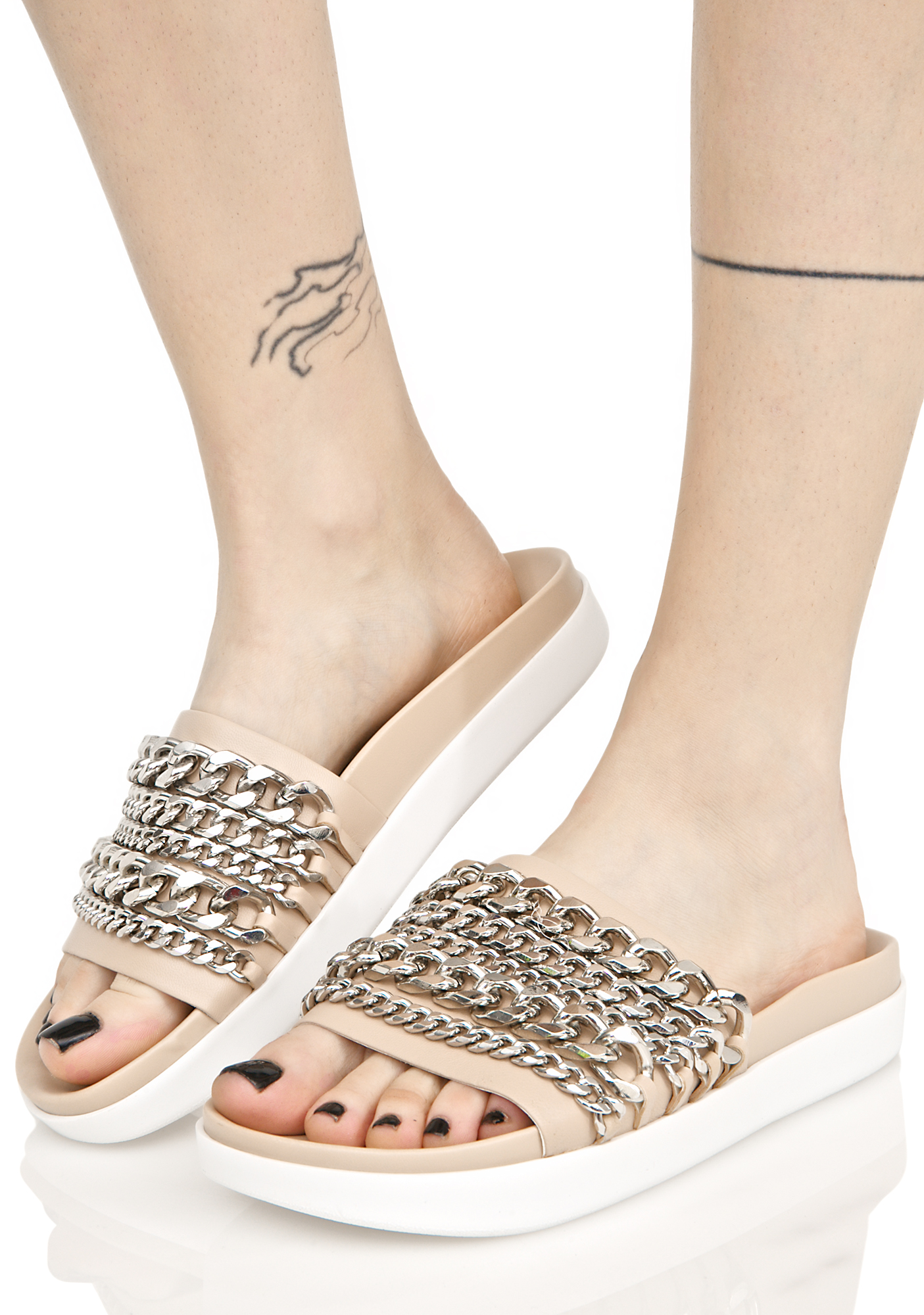 Kendall + Kylie Slide Sandal With Chains