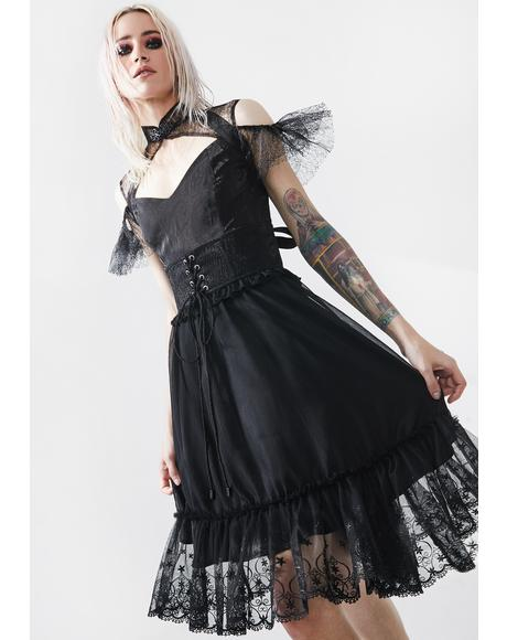 Black Fairy Tale Babydoll Dress