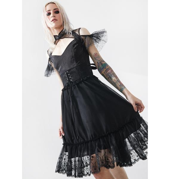 Punk Rave Black Fairy Tale Babydoll Dress
