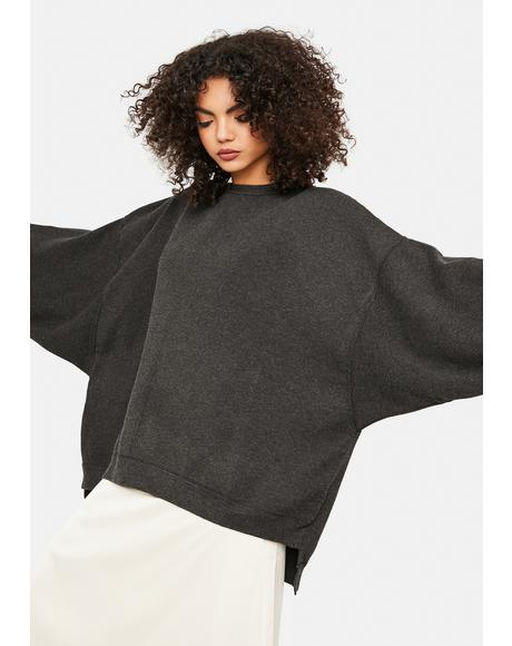 Uptown Oversized Pullover Sweatshirt