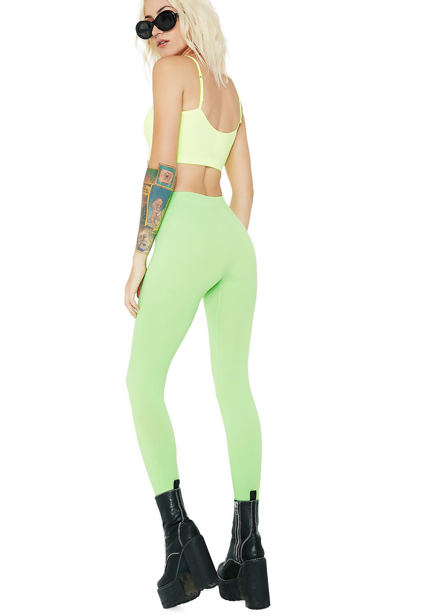 Lime So Electric Leggings