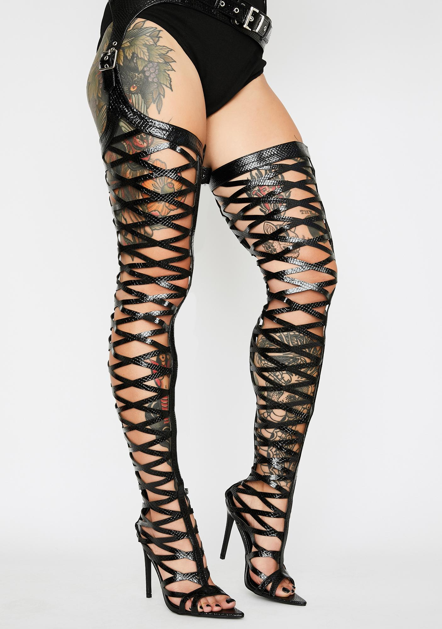 Left On Read Thigh High Boots