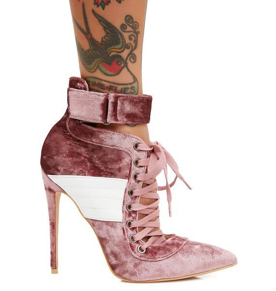 Public Desire Rose Fifi Lace Up Stiletto Ankle Boots
