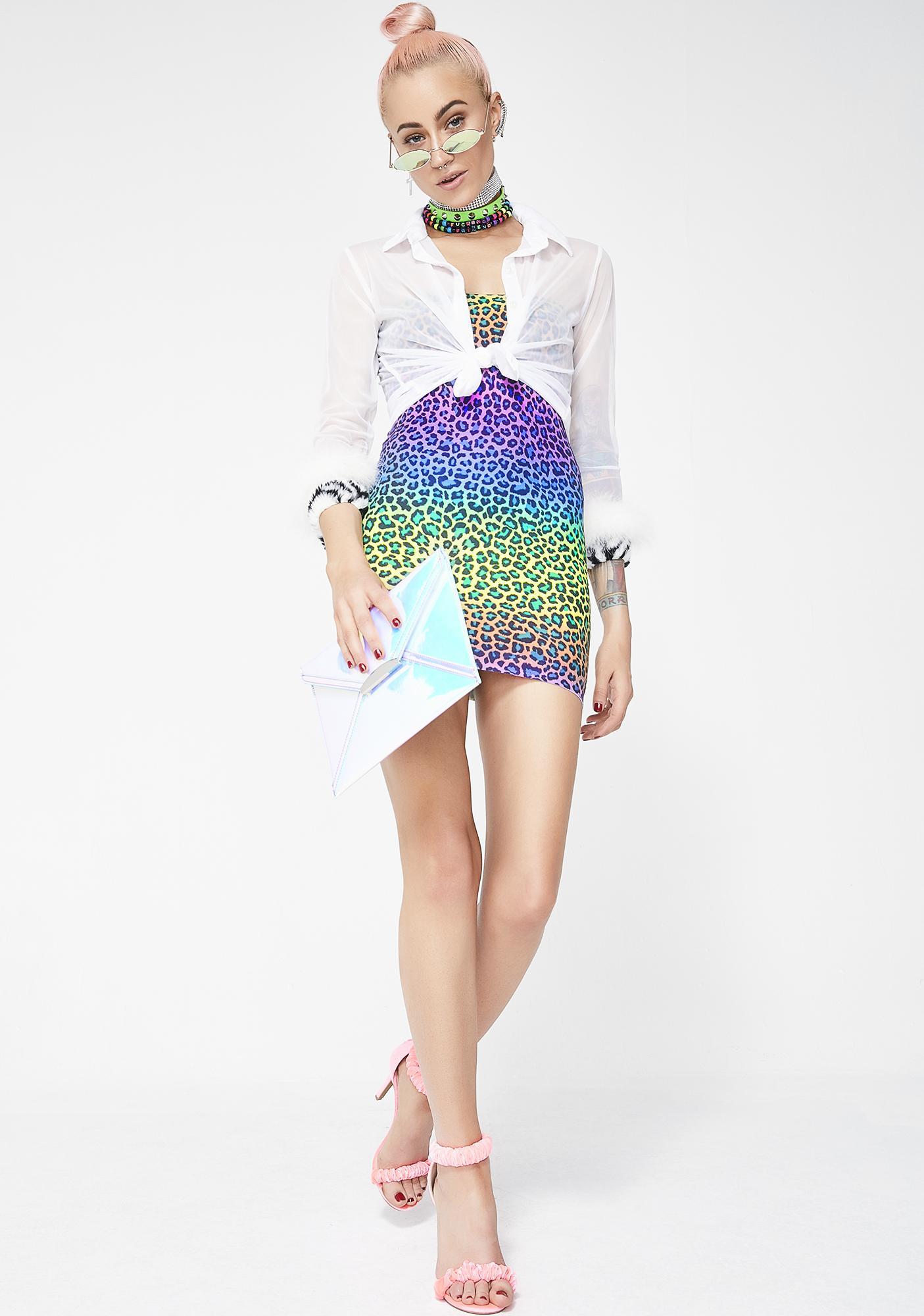 Freaky Kitty Strapless Dress