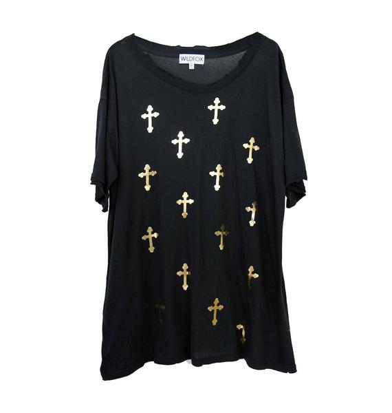 Wildfox Couture All Over Crosses Donovan Tee