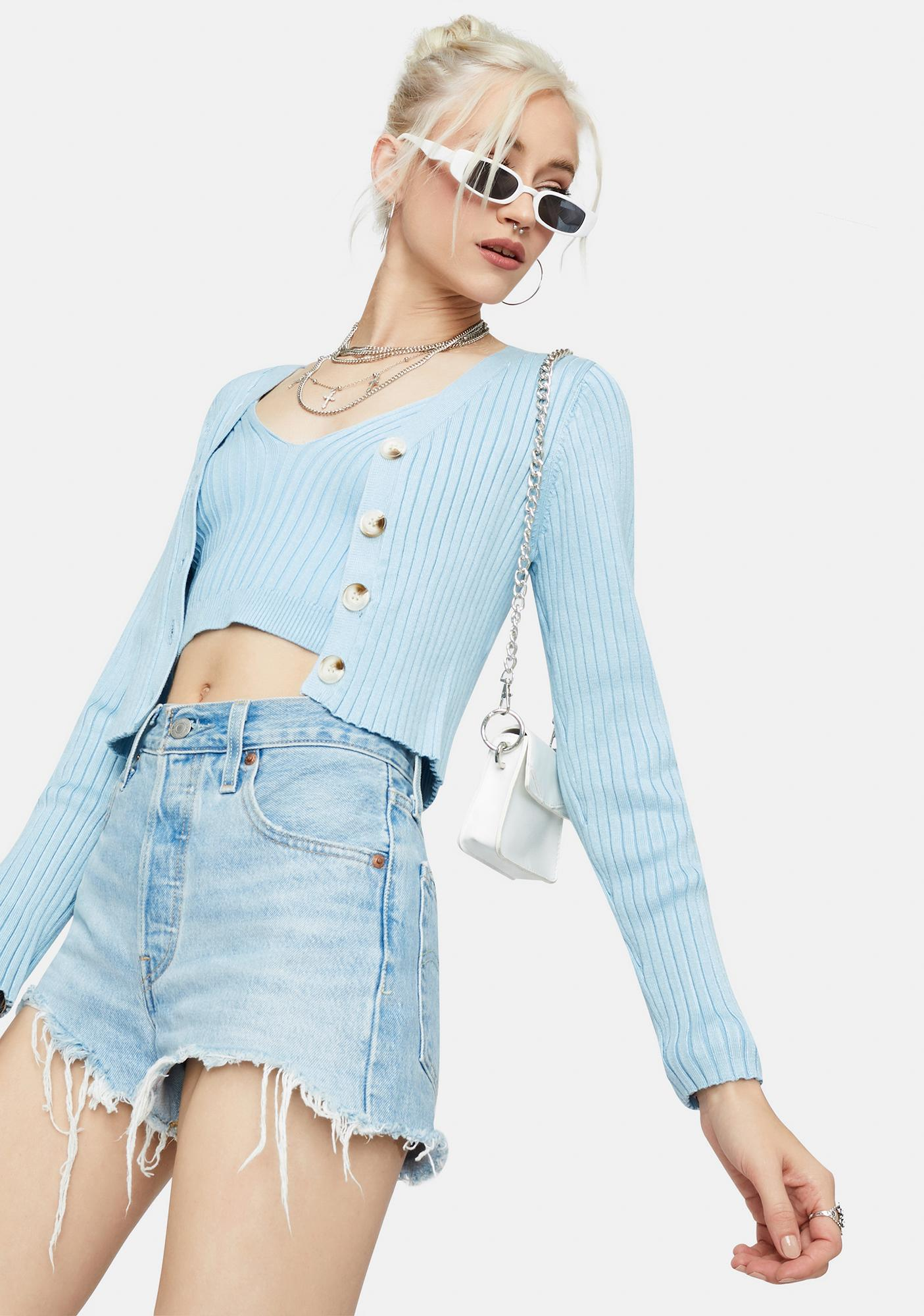 Ready To Snare Cropped Cardigan
