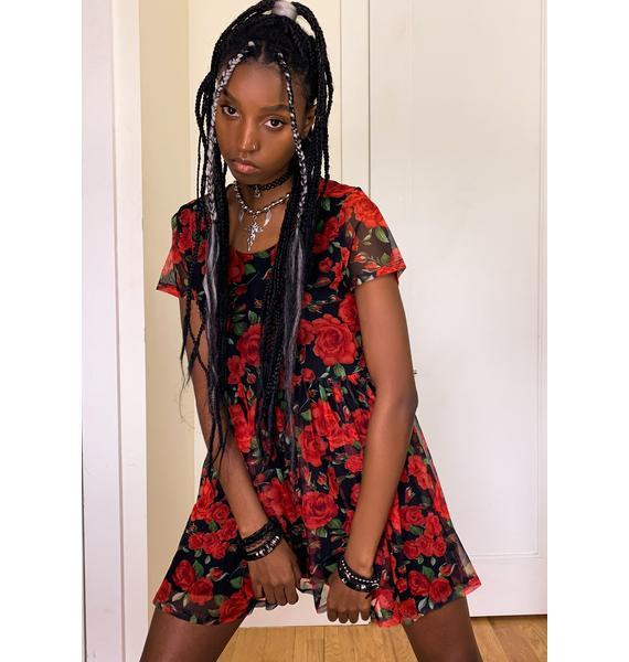 dELiA*s by Dolls Kill Daring But Delicate Mesh Dress
