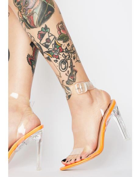 Slice Perspex Clear Heels