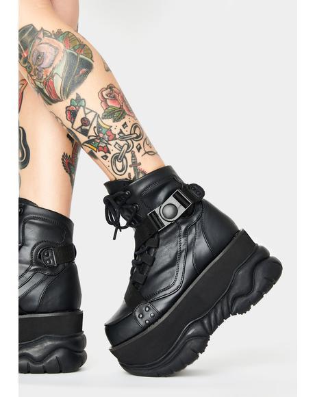 Dark Sonic Boom Platform Boots
