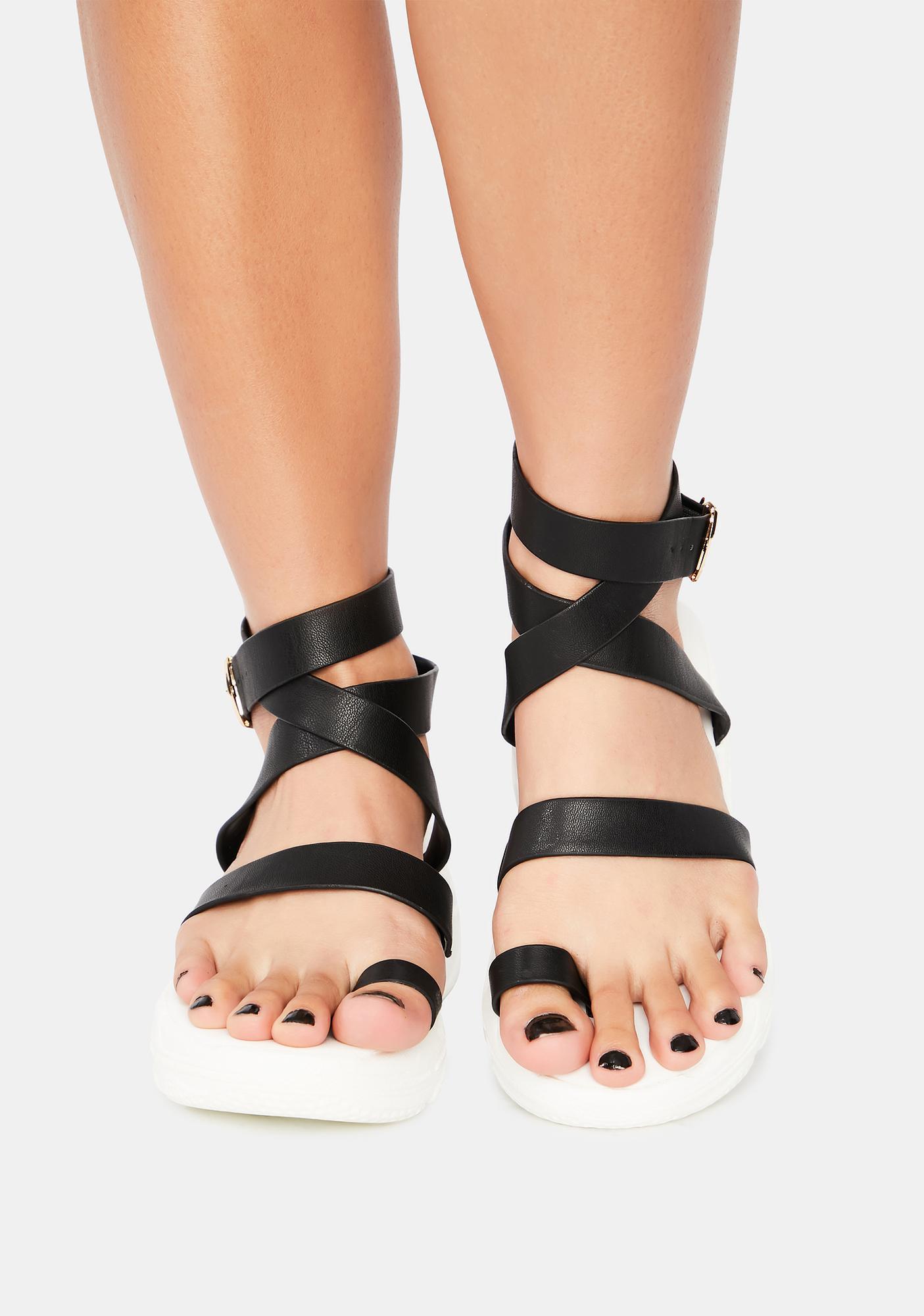 Walk That Walk Platform Gladiator Sandals