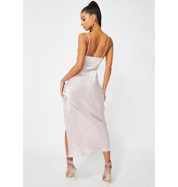 Glamorous Lilac Metallic Maxi Dress