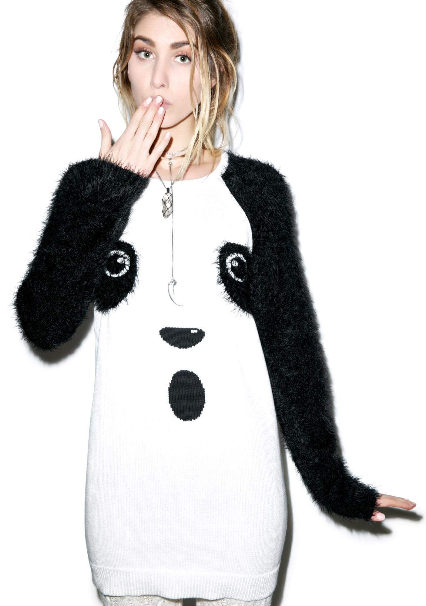 Mink Pink Panda Surprise Sweater Dress