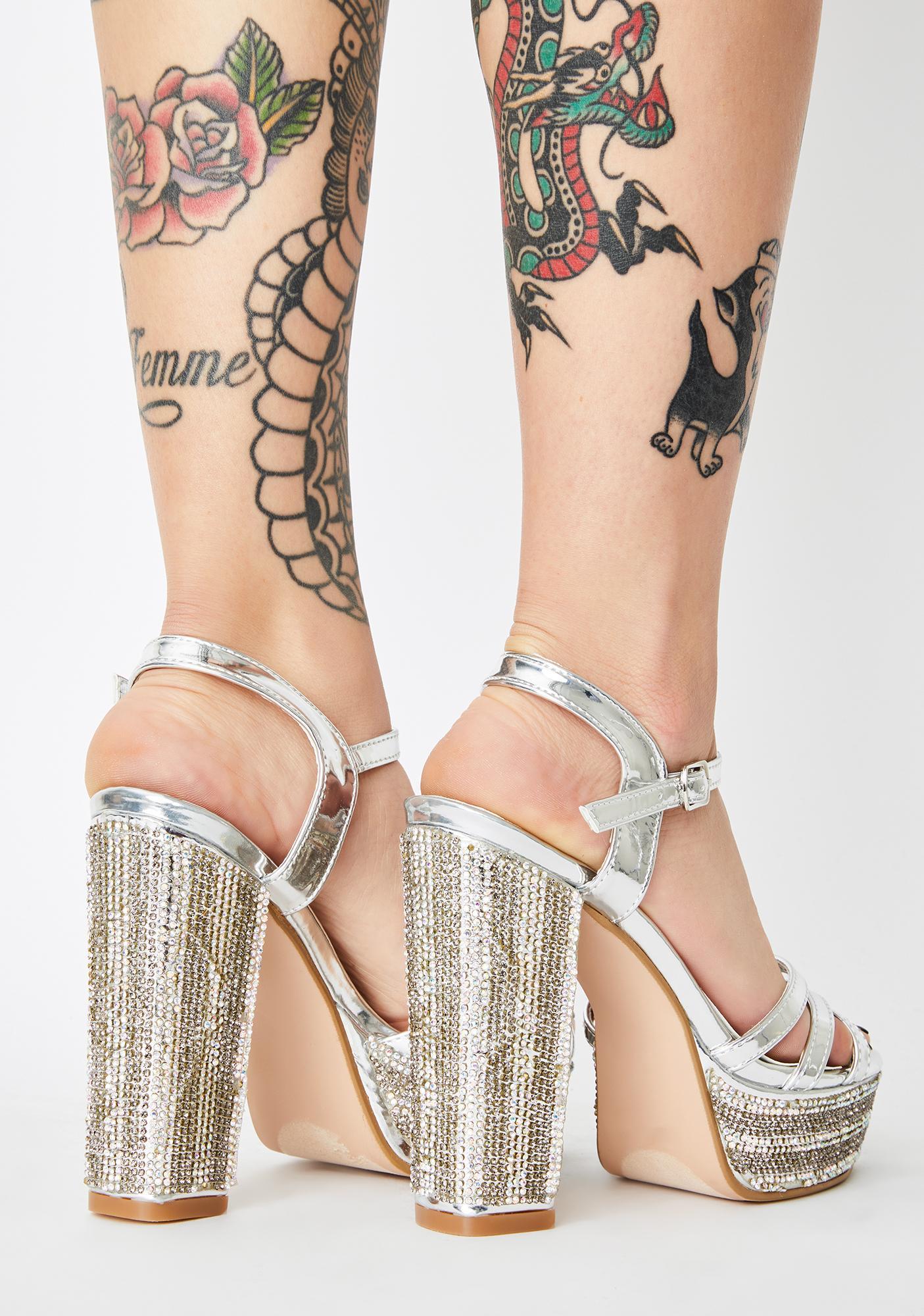 Glamour Galore Sparkle Heels