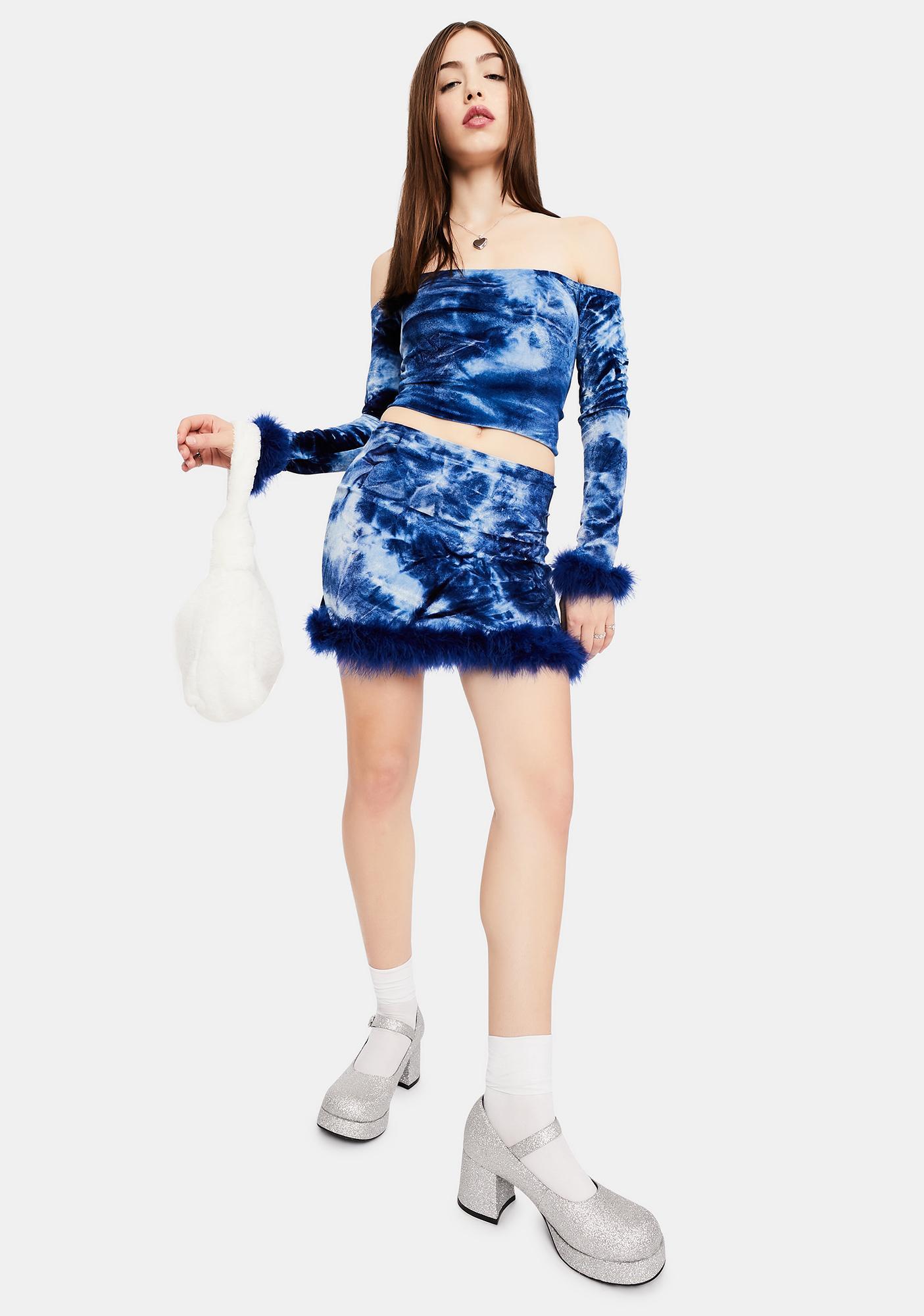 dELiA*s by Dolls Kill Below Freezing Velvet Mini Skirt