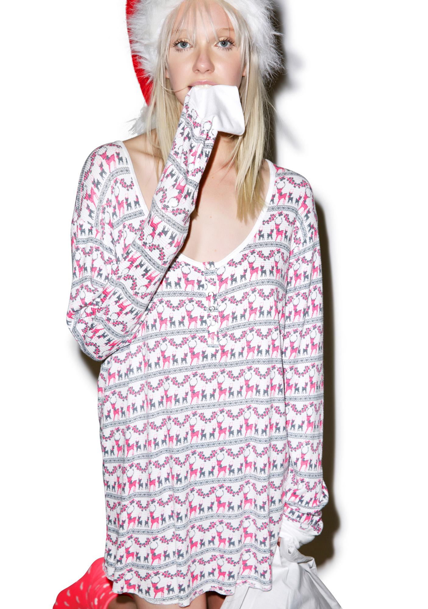 Wildfox Couture Reindeer Snowed-In Sleep Shirt