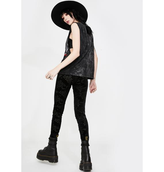 Killstar Hayzel Velvet Leggings