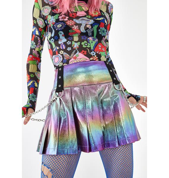 Current Mood Electric Aura Pleated Skirt