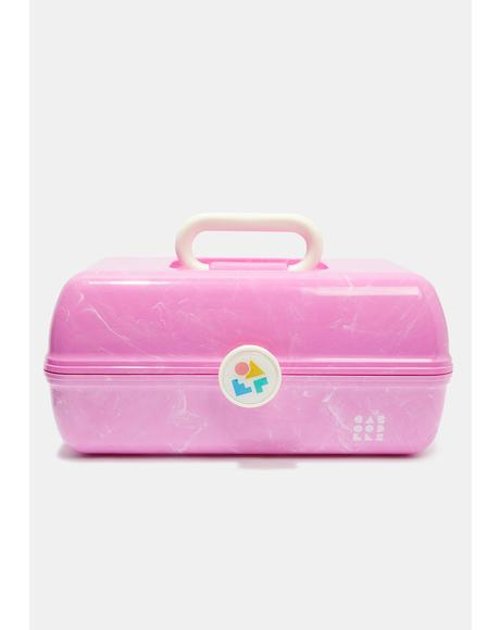 On The Go Girl Pink Marble Caboodle