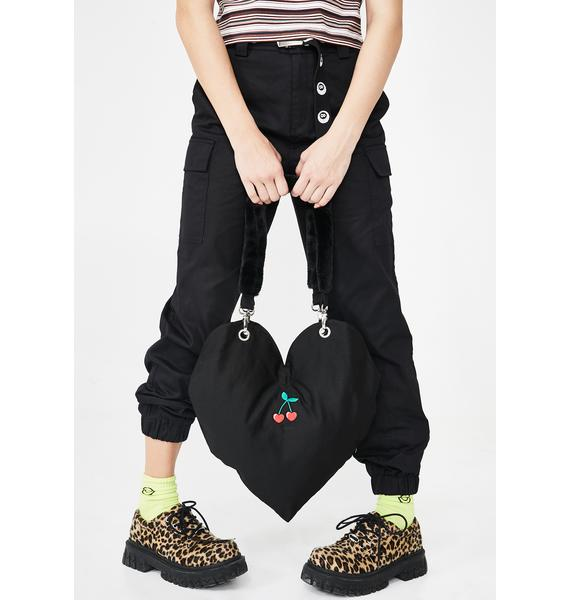 Lazy Oaf Cherry Heart Tote Bag