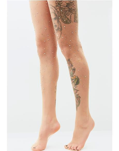 Stay Gleamin' Rhinestone Tights