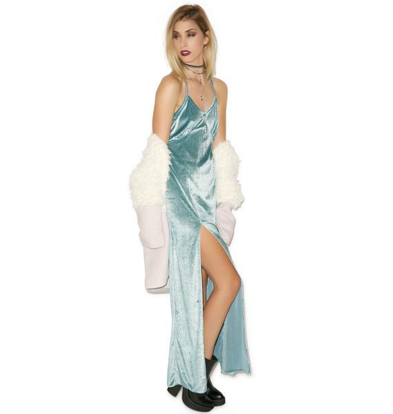 For Love & Lemons Sage Vixen Maxi Dress