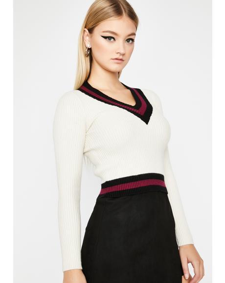 Made Varsity Ribbed Sweater