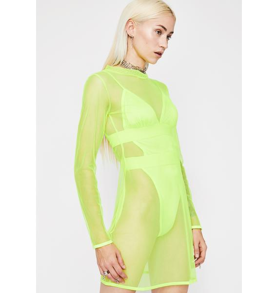 Nuclear Fashion High Sheer Dress