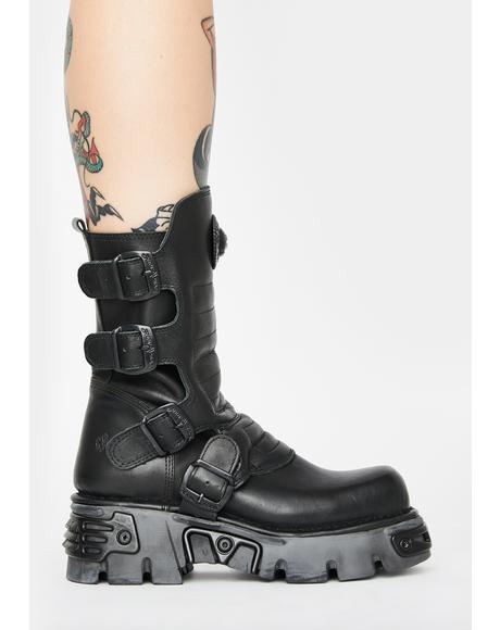 Buckle Platform Boots