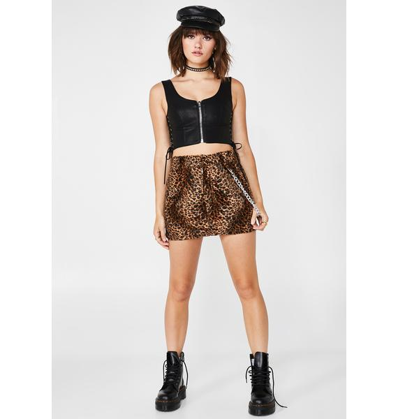 O Mighty OG Leopard Chain Skirt