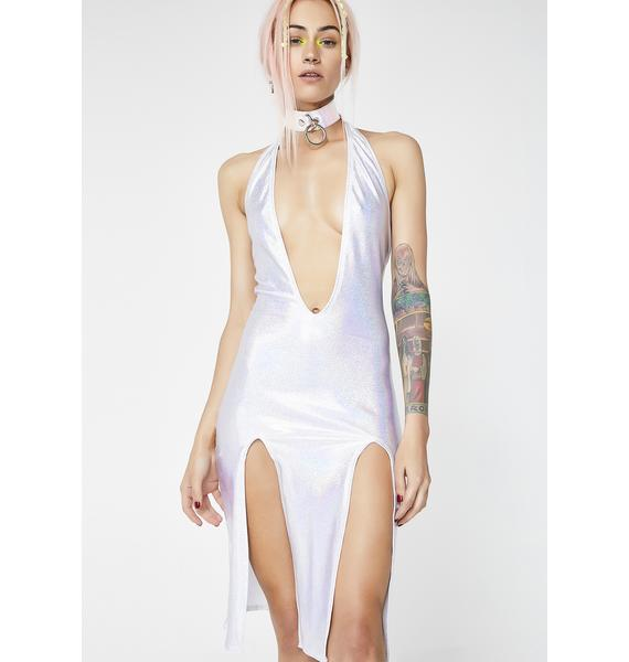 Hologram Sleek Freak Slit Dress