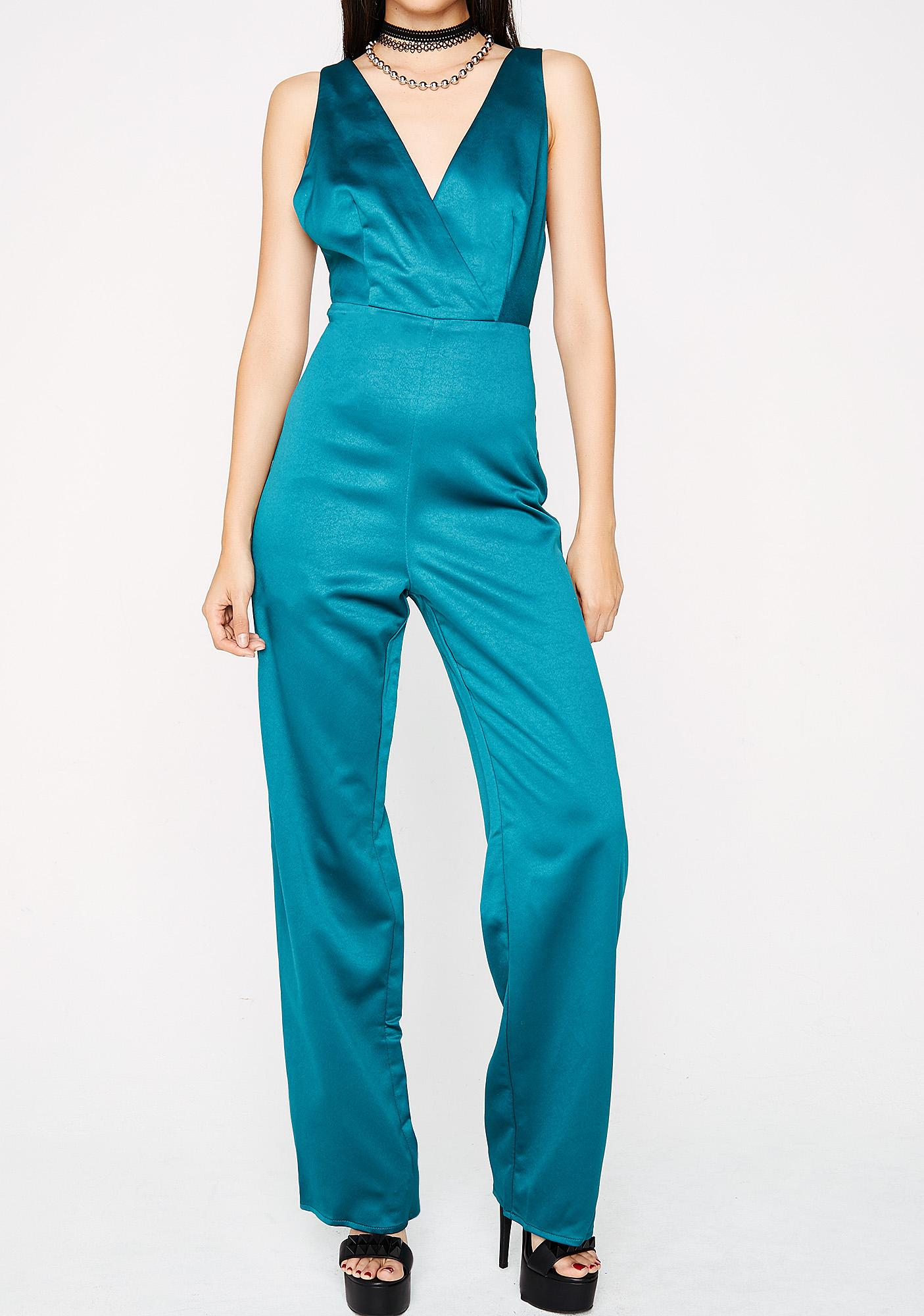 Tiffany Satin Jumpsuit