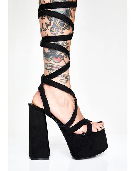 Wrap It Up Platform Heels
