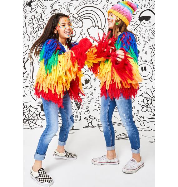 Current Mood Kids Rainbow Trippin' Shaggy Sweater
