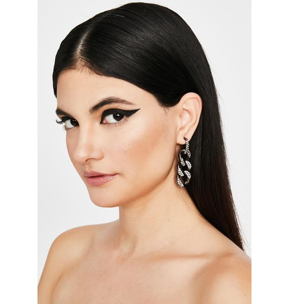 Glamour Alert Rhinestone Earrings