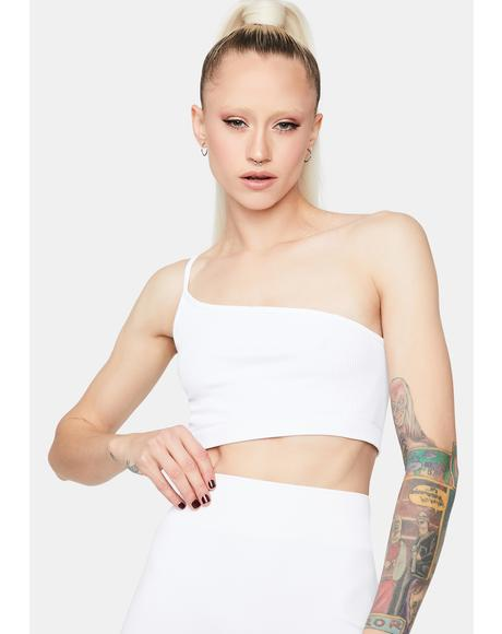 Pure Spot Me BB Asymmetrical Crop Top