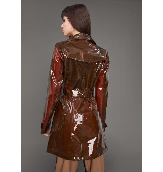 Poster Grl Slick At Night Translucent Trench Coat