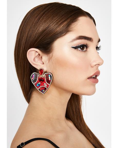 Love Glamour Beaded Earrings