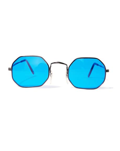 Psyborg Blue Tinted Sunglasses
