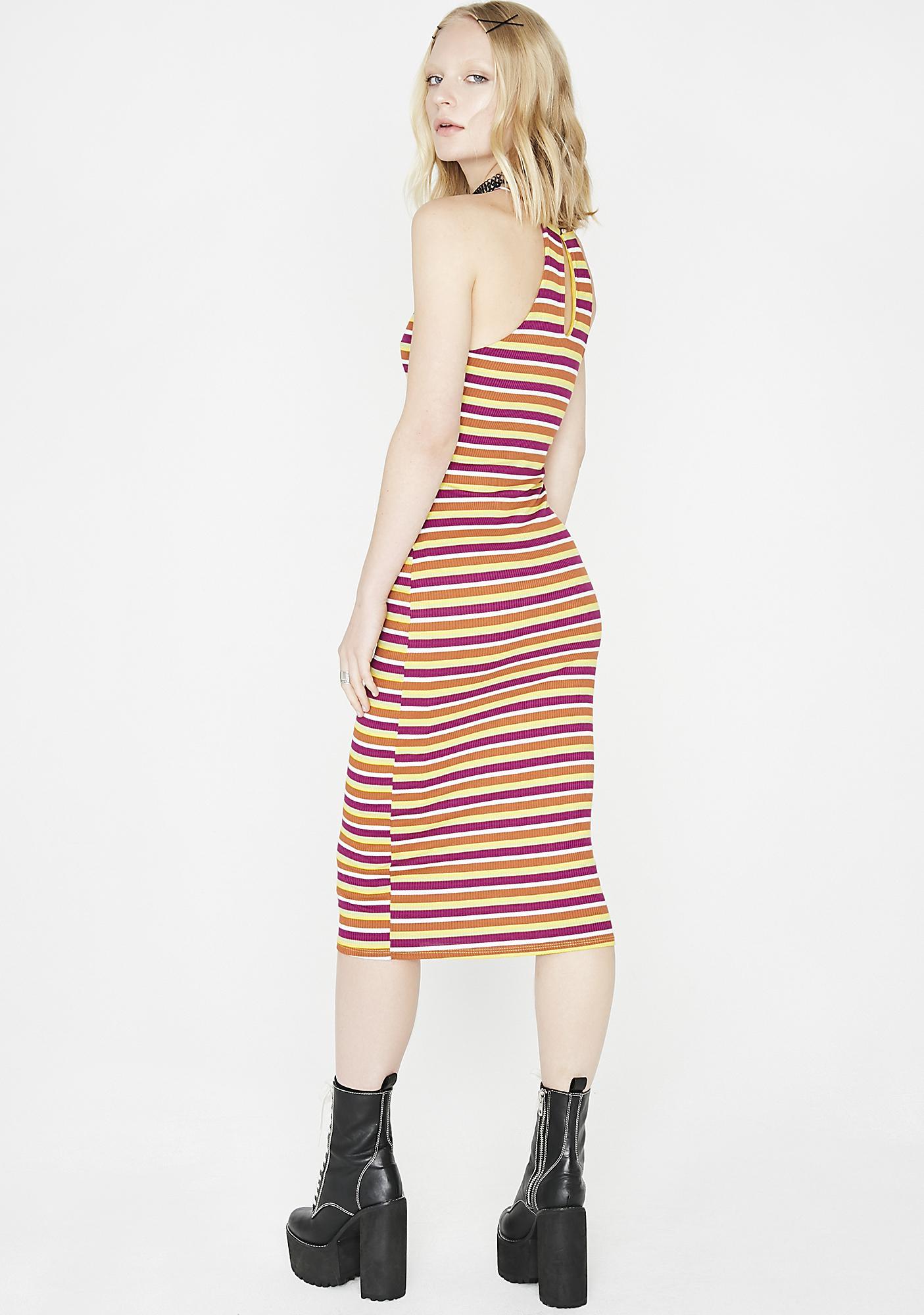 New Beginnings Striped Dress